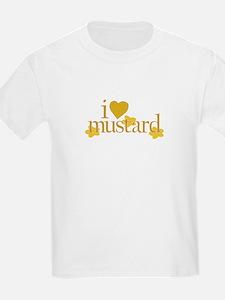 I Love Mustard Kids T-Shirt