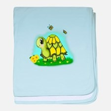 Turtle Sunflower and Butterflies baby blanket