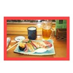Kyushu Sushi Plate Postcards (Pkg of 8)
