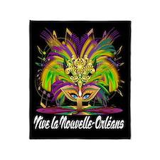 Mardi Gras Queen 3-B Throw Blanket