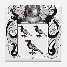Janas Coat of Arms (Family Crest) Tile Coaster