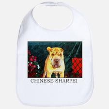 Chinese Sharpei Christmas Chunky Bib