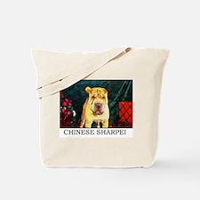 Chinese Sharpei Christmas Chunky Tote Bag