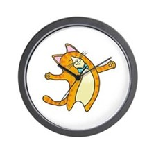 Happy Cat Wall Clock