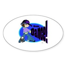 Tap Girl! Oval Decal