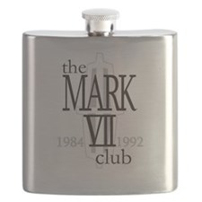 The Lincoln Mark VII Club Logo Flask