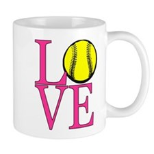LOVE SOFTBALL Mug