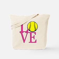 LOVE SOFTBALL Tote Bag