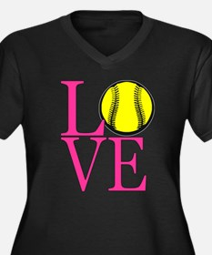 LOVE SOFTBALL Plus Size T-Shirt
