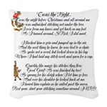 Twas the Night Woven Throw Pillow