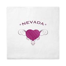Nevada State (Heart) Gifts Queen Duvet