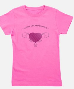 New Hampshire State (Heart) Gifts Girl's Tee