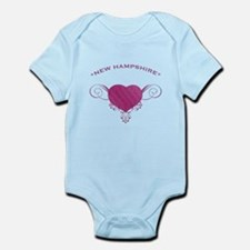 New Hampshire State (Heart) Gifts Infant Bodysuit