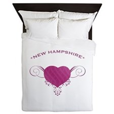 New Hampshire State (Heart) Gifts Queen Duvet