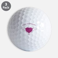 New Hampshire State (Heart) Gifts Golf Ball