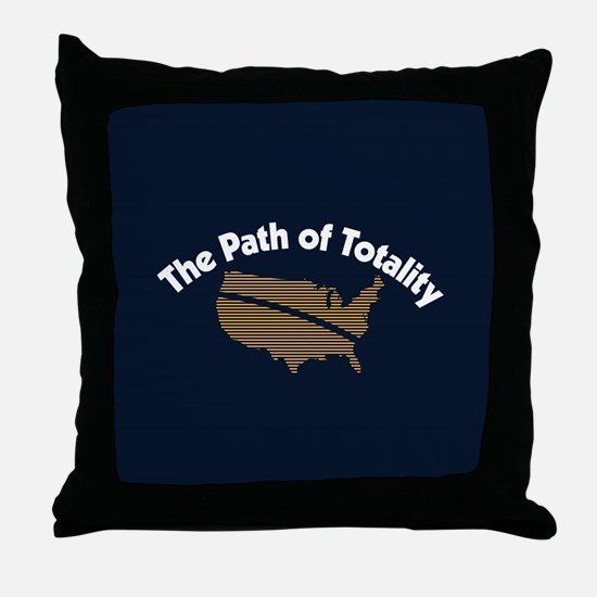The Path of Totality Throw Pillow