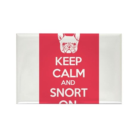 Keep Calm and Snort On Rectangle Magnet