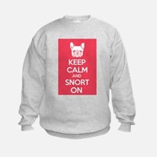 Keep Calm and Snort On Sweatshirt