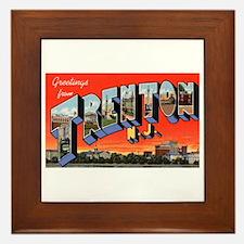 Trenton New Jersey Greetings Framed Tile
