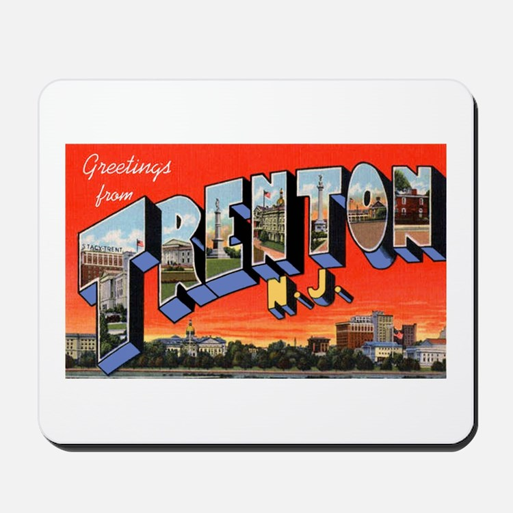 Trenton New Jersey Greetings Mousepad