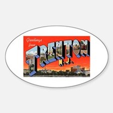 Trenton New Jersey Greetings Oval Decal