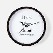 Pyr Thing Wall Clock