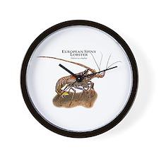 European Spiny Lobster Wall Clock