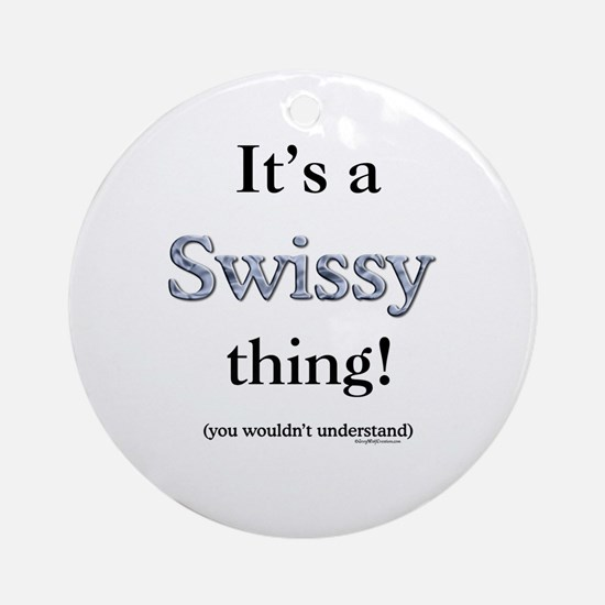 Swissy Thing Ornament (Round)