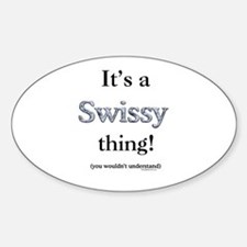 Swissy Thing Oval Decal