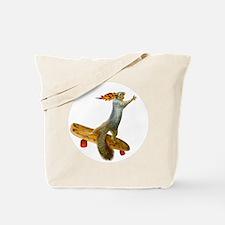 Skateboarding Squirrel Tote Bag