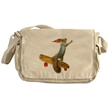 Skateboarding Squirrel Messenger Bag