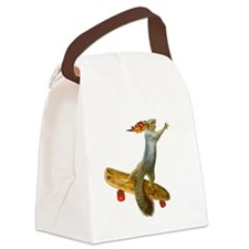 Skateboarding Squirrel Canvas Lunch Bag