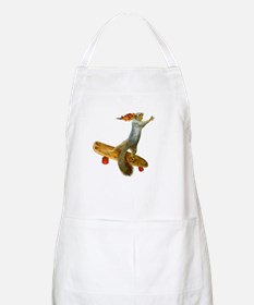 Skateboarding Squirrel Apron