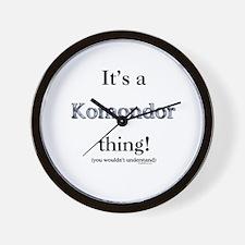 Komondor Thing Wall Clock