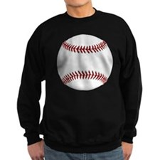 White Round Baseball Red Stitchi Sweatshirt