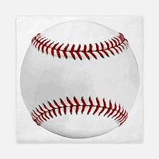 White Round Baseball Red Stitching Queen Duvet