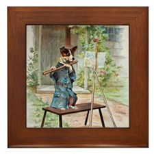 He Was Playing The Flute Framed Tile