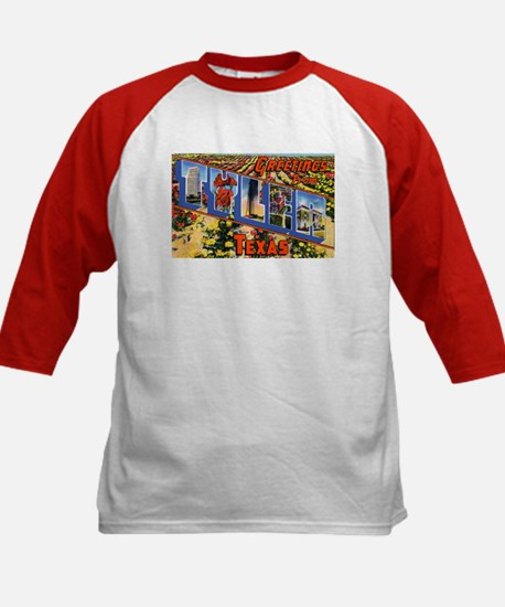 Tyler Texas Greetings (Front) Kids Baseball Jersey