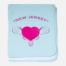 New Jersey State (Heart) Gifts baby blanket
