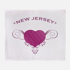 New Jersey State (Heart) Gifts Throw Blanket