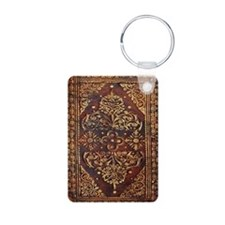 Vintage Book Cover Aluminum Photo Keychain