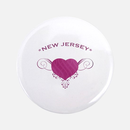 """New Jersey State (Heart) Gifts 3.5"""" Button"""