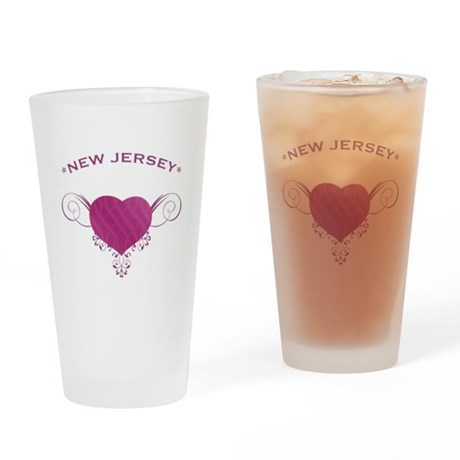 New Jersey State (Heart) Gifts Drinking Glass