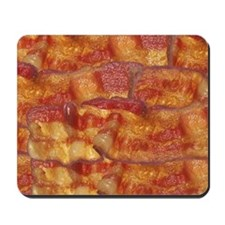 Fried Bacon Background Pattern Mousepad