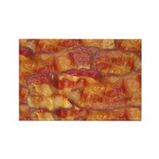 Fried Bacon Background Pattern Rectangle Magnet