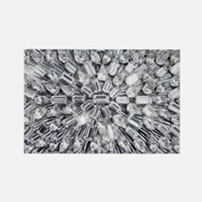 Radial Rhinestone Bling Rectangle Magnet