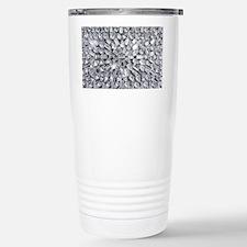 Radial Rhinestone Bling Stainless Steel Travel Mug