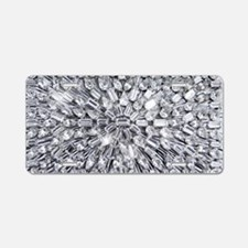 Radial Rhinestone Bling Aluminum License Plate
