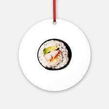 Funny Realistic Sushi Round Ornament