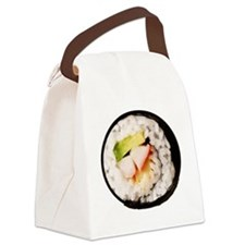 Funny Realistic Sushi Canvas Lunch Bag